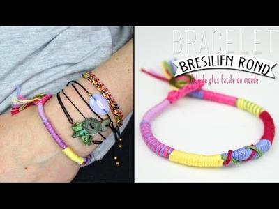 DIY - TUTO : BRACELET BRESILIEN ROND - BRACELET DE L AMITIE ateba. Hippie Gyspie Friendship bracelet