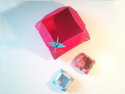 HD. TUTO: Faire une boîte origami 2 - Make an origami box 2