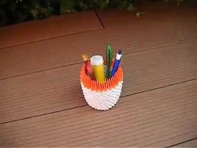 Origami 3D pot à crayon