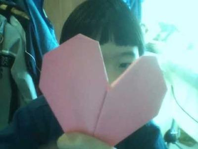 Origami - coeur en papier