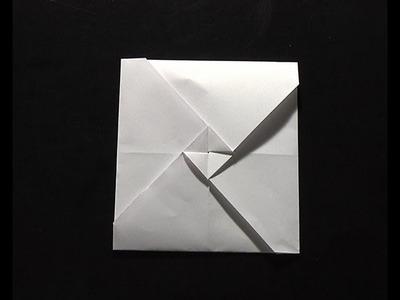Origami pliage papier paquet cadeau