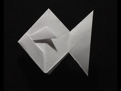 Origami pliage papier poisson rouge