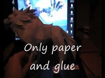 White wolf papercraft