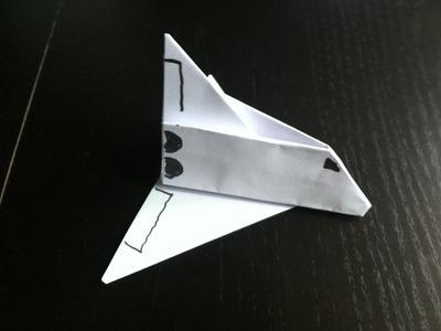 Avion en  papier type fusée origami facile