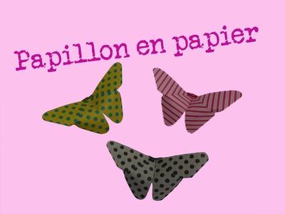 Comment faire un papillon en papier - facile - pliages d'origami - explication - pliage de papier