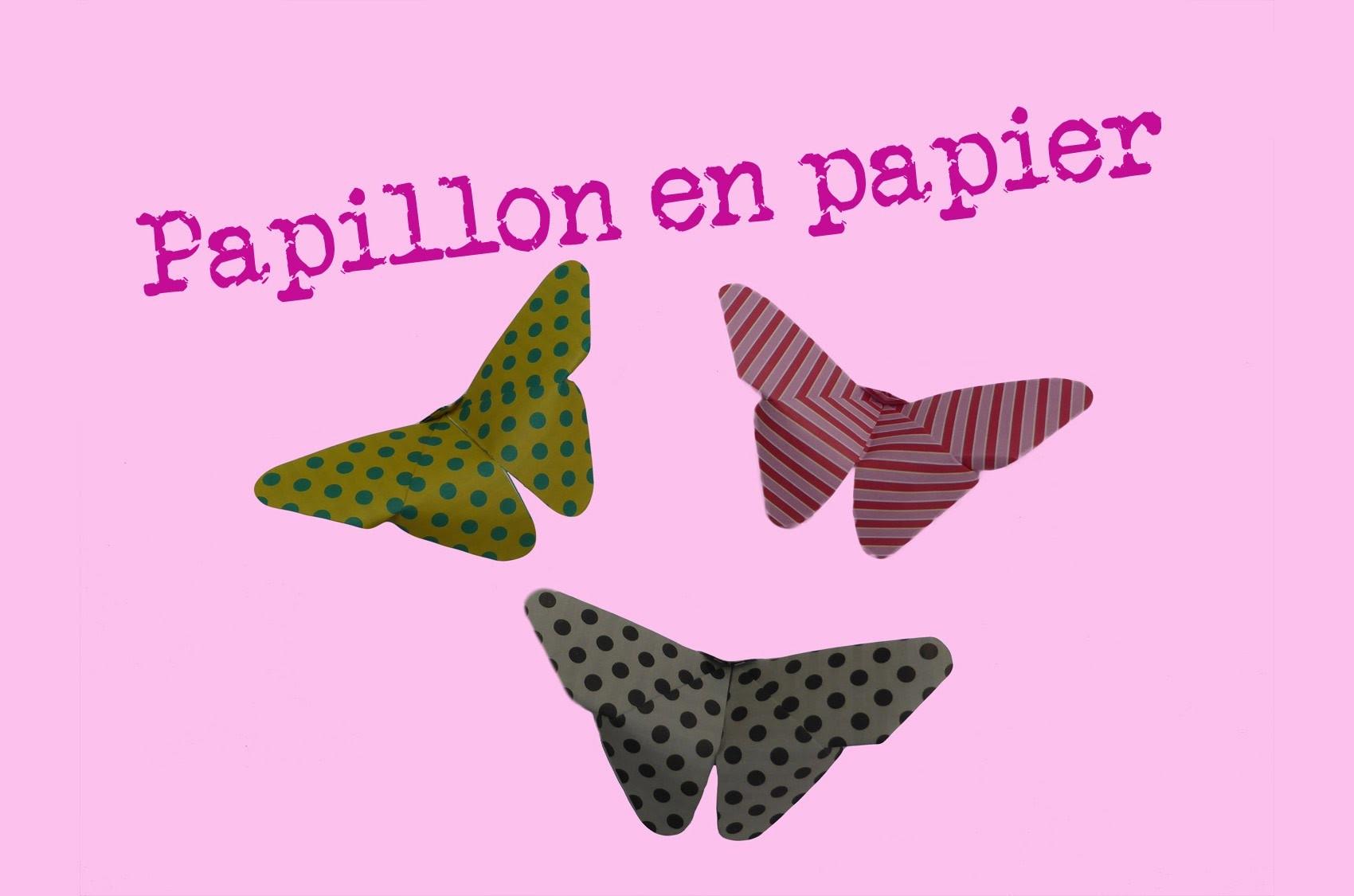 comment faire un papillon en papier facile pliages dorigami explication pliage de papier. Black Bedroom Furniture Sets. Home Design Ideas