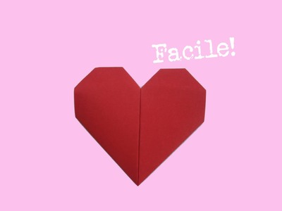 Pliage Coeur en papier - d'Origami - facile - explication - lentement