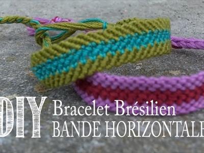 DIY Tuto: Comment Faire un Bracelet D'amitie.Brésilien - Bande Horizontale