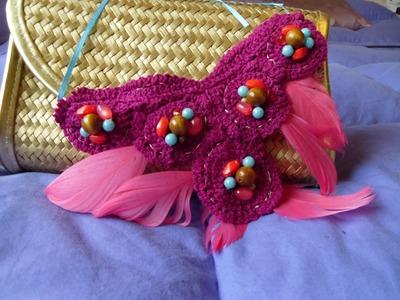 Dyi collar de plumas