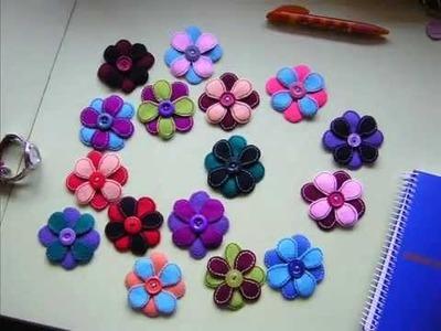 . Flores de fieltro.