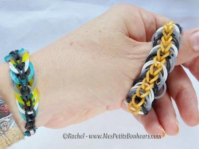 Bracelet Rainbow Loom avec chainette et cercles - Facile