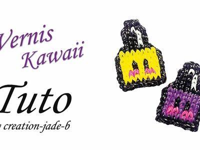 Tuto Rainbow Loom - Mural sans fond, Vernis Kawaii !