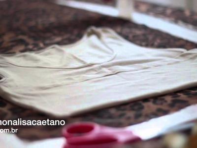 'Faça você' - DIY  blusa cropped de onça