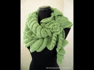 Crochet : Scarf crochet  spiral