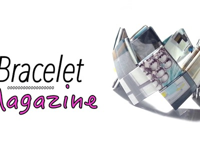 DIY Comment faire un bracelet avec du papier magazine