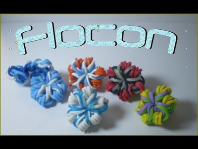 Flocon de neige en rainbow loom