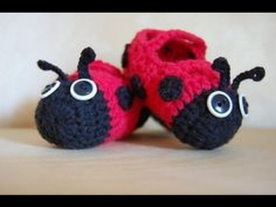 Patucos de ganchillo de animalitos. Animals crochet baby booties.
