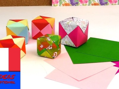 Tutoriel origami facile - Cubes origami, DIY. Tutorial. Plier en cube, instructions en français