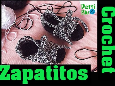 Sandalias bebe a crochet ♥ Pettiblu ♥