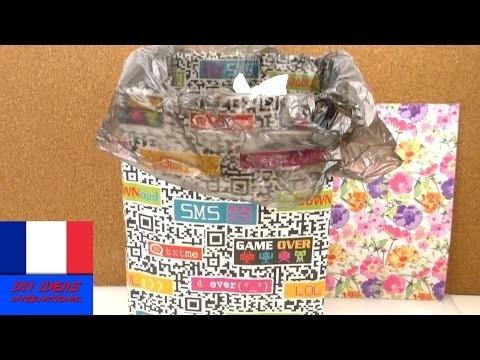 Corbeille à papier DIY. Corbeille en papier facile et utile. Meuble origami