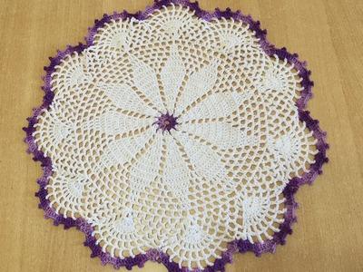 Tuto nappe, tapis facile au crochet