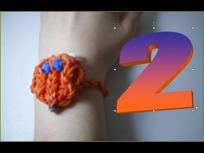 Bracelet renard en Rainbow Loom 2