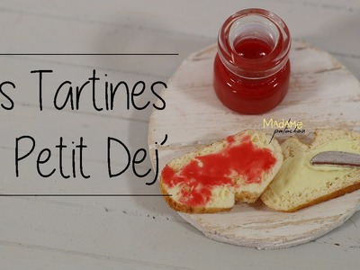 Les tartines du p'tit dej'. Toast of breakfast (Tuto Fimo.Polymer Clay Tutorial)