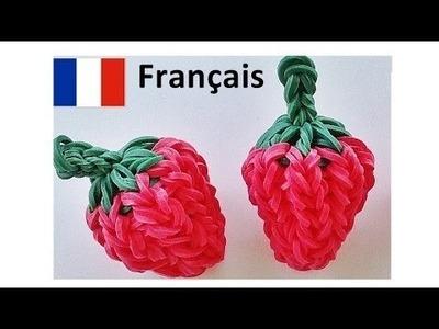 Bracelet Elastique. Rainbow Loom Francais : Fraise || loom bands Francais