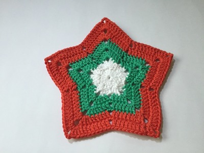 Tuto nappe, tapis étoile au crochet