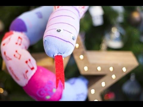 DIY Noël - Création d'un Serpent peluche en chaussettes
