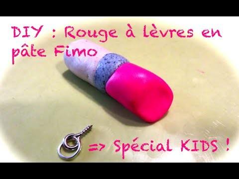 DIY Spécial KIDS : Rouge à lèvres en pâte fimo