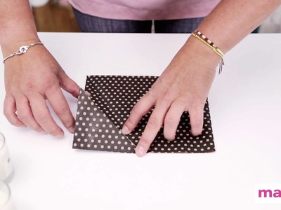 DIY : réaliser un paquet cadeau en forme de berlingot