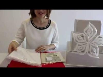 Tutoriels et Astuces pâte à sucre: Fleur fantaisie en papier de riz. Wafer paper flower