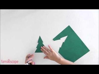 Bricolage de Noël : fabriquer des petits sapins à poser