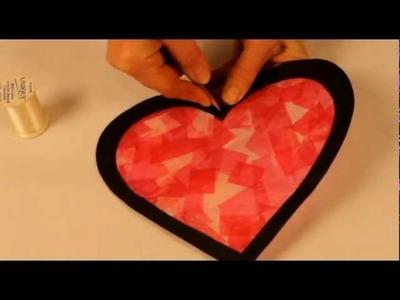Bricolage Saint Valentin: Coeur en vitrail