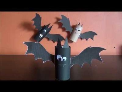DIY - Bricolage à faire à la maison #3 (Chauve-souris rouleau de papier toilette)