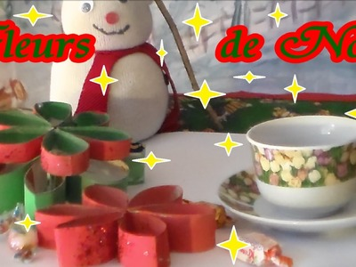 Jolies fleurs 3D de Noël | Bricolage rouleau papier toilette
