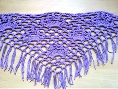 Chal tejido a crochet facil. Châle au crochet facile
