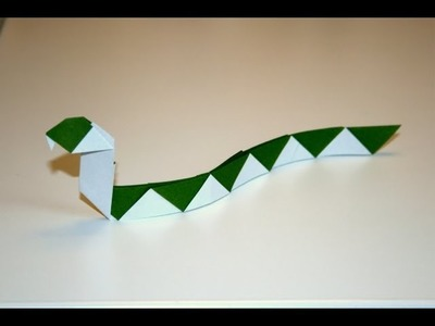 Origami - Serpent rayé - Striped Snake [Senbazuru]