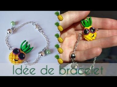 [TUTO] - Idée d'un montage de bracelet avec une création fimo