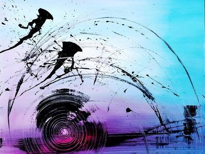 "Abstract acrylic painting démo vidéo by Samuel Chevalier : "" ZEN """