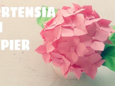 Origami facile - Faire des fleurs d'hortensia en papier
