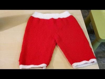 Tricot : pantalon bébé pas à pas