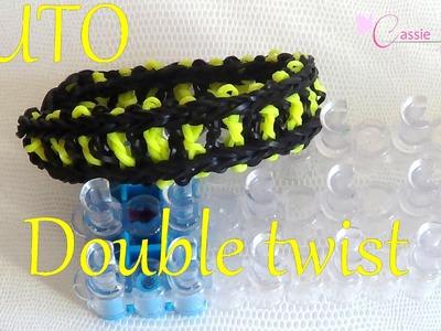 [ TUTO ] bracelet double twist en élastique