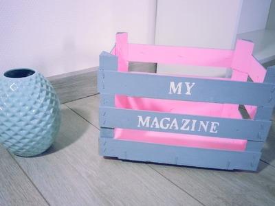 DIY Recyclage Range Magazine avec Cagettes