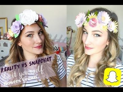 DIY - SNAPCHAT Flowers Crown