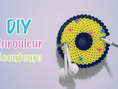 DIY Faire un enrouleur pour écouteurs Donut avec des perles HAMA