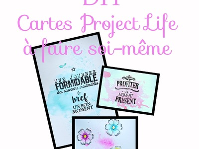 (Scrap) Faire des cartes de PROJECT LIFE (DIY scrap)
