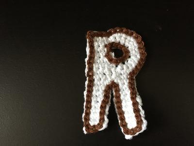 Tuto lettre R au crochet