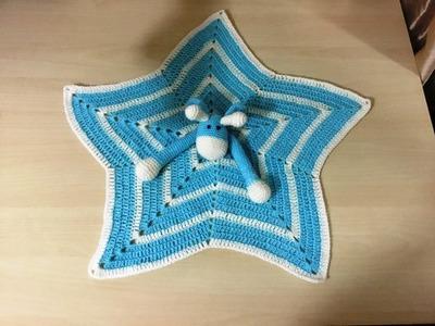 Tutoriel crochet : Doudou étoile girafe au crochet 2. Mantita de apego jirafa tejida a crochet 2